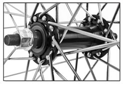 """Flying Horse Heavy Duty 12 Gauge Front 26"""" x 1.5"""" Bicycle Rim – Gas Bike HD Rim Upgrade (Black) by Flying Horse (Image #1)"""