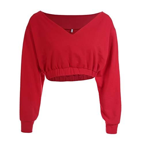 Maniche Moda V T Breve Cintura A Nuovo Shirt Gules Lunghe Stile DAMENGXIANG Cintura Camicia qUawIq