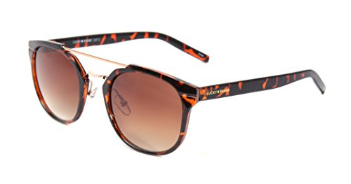 Lucky Mntator52 Round Sunglasses, Tortoise, 52 - Case Brand Glasses Lucky