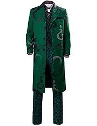Adult Unisex Edward Nygma Cosplay Costume Mens Womens Green Cosplay Full Set Uniform