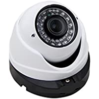 "Camvtech USA - High Definition 2.0 MP 1080P 1/3 Sony Business-Class 2.8-12mm Varifocal Lens 36 IR Led, color ""Indoor & Outdoor Waterproof"" Dome Camera, OSD Control"