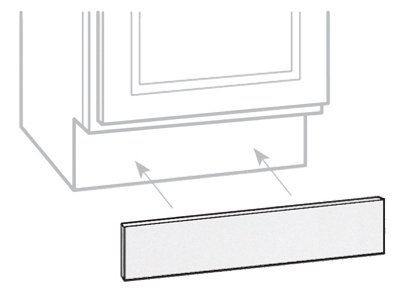 CONTINENTAL CABINETS Cabinet Accessories 2478280 Rsi Home Products Toe Kick, White, 90'' by CONTINENTAL CABINETS