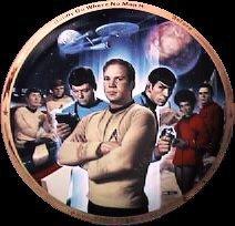 Thomas Blackshear Star Trek Collector Plate 25th Anniversary