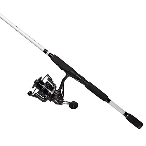 Cadence CC5 Spinning Combo Lightweight with 24-Ton Graphite 2-Piece Graphite Rod Carbon Fiber Drag System Smooth Strong Carbon Composite Frame & Side Plates Reel & Rod Combo (Best Grouper Rod Reel Combo)