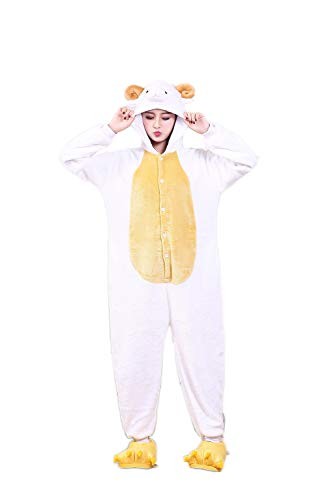 Lazutom Animal Onesie Costumes One Piece Cosplay Pajamas for Men Women (XL Fit Height 177CM-185CM (70