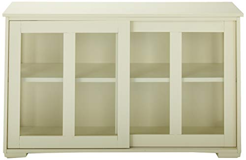 TMS Pacific Stackable Storage with Glass Door, Antique White by TMS (Image #2)