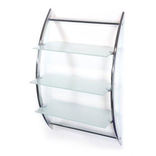 Wandregal,Gr/ö/ße 45*28*70cm Glasregal mit 3 Glasablagen-Milchglas-AWD Design AWD02050026-NEU 2017 Hochwertiges Badregal-Wandregal-Badregal