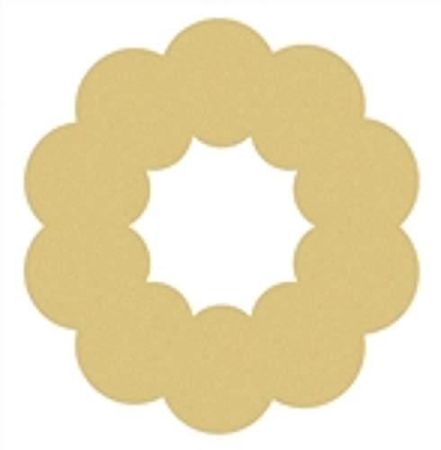 Wreath Cutout Unfinished Wood Holiday Cut Out Christmas Door Hanger MDF Shape Canvas Style 1 (18