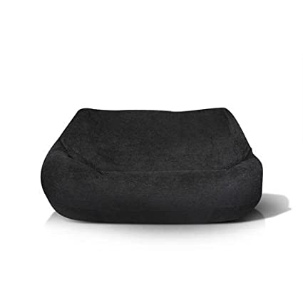 Jordan Manufacturing BB2SPK1 BLKPLU Plush 2 Seater In Black Bean Bag Chair