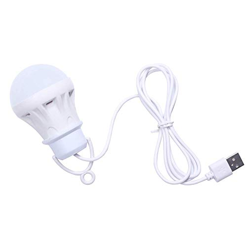 kokokwad USB Bulb Light Portable Lamp Led for Hiking Camping Tent Travel Work with Power Bank Notebook