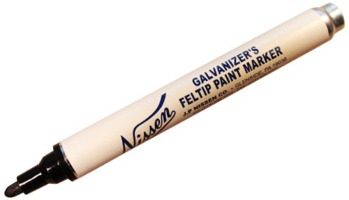 nissen-gfbk-galvanizers-feltip-paint-marker-black-pack-of-12