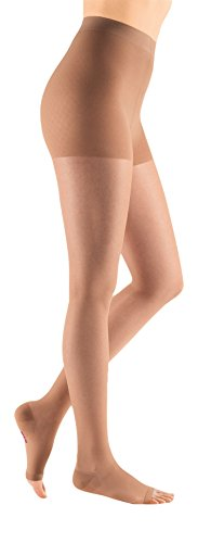 Medi Sheer&Soft Pantyhose 20-30mmHg Open Toe, III, Natural by mediven (Image #1)