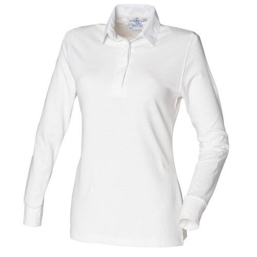 lunghe a bianca in donna bianca lunghe maniche per di Polo maniche rugby fila a con prima tipo qpxnEEHw4d