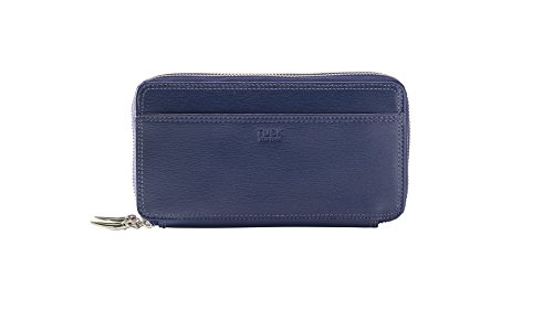 tusk-womens-madison-double-zip-clutch-navy