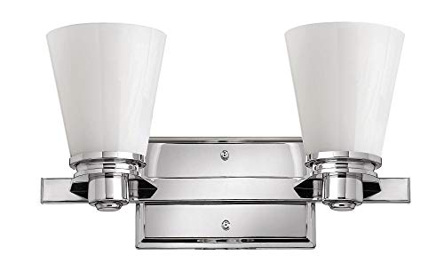 Hinkley 5552CM Transitional Two Light Bath from Avon collection in Chrome, Pol. Nckl.finish, ()