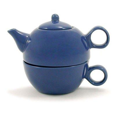 Blue Tea For One Cearmic Teapot & 1 Cup Tea for Me Pot
