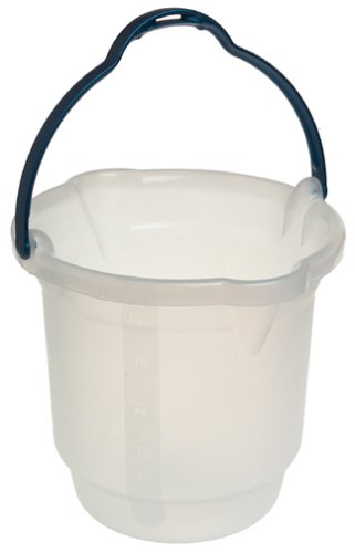 Casabella 88210 3-Gallon Square Bucket, Translucent/Silver