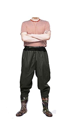 FengLiu Men's Fishing Chest Waders Boots Waterproof Breathable Rubber Lightweight Anti-Slip Wading Overalls Pants