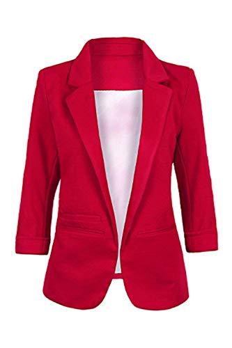 Pour Blazer Blanc Manteaux Printemps coloré Taille Oudan Automne Solide Small Cardigan Femmes Noir Travail Casual xw16HT5