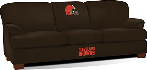 Imperial Officially Licensed NFL Furniture: First Team Microfiber Sofa/Couch, Cleveland Browns