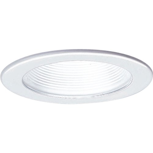 Progress Lighting P8037-28 Step Baffle All Trims Have 360 Positioning Lamps That Tilt 30 Degree Maximum with 5-Inch Outside Diameter, White
