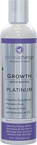 DermaChange Platinum Hair Growth Conditioner - With Vitamins - To Make Hair Grow Fast - Argon Oil and Biotin To Support Regrowth - Reduce Thinning and Hair Loss For Men and Woman 8oz