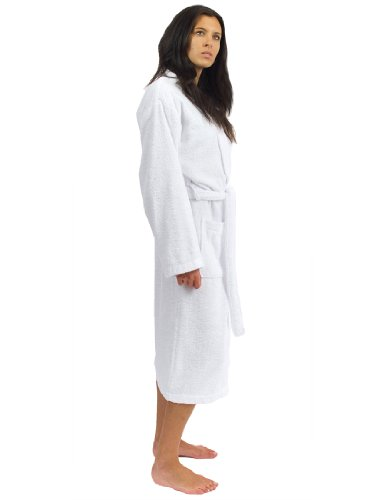 TowelSelections Women's Robe Turkish Cotton Terry Kimono Bathrobe X-Small/Small White