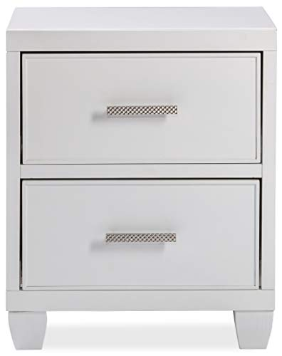 Hillsdale Furniture 7136-772 Lyndon Lane 2-Drawer Wood Nightstand White (Furniture Lyndon)