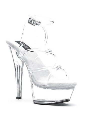 Ellie Shoes Womens 601-SOPHIA Clear Sandals 8 B(M) US 9sCFWUqaJ