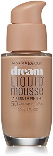 Maybelline Dream Liquid Mousse Airbrush Foundation, Creamy Natural Light [5] 1 oz (Pack of 2)