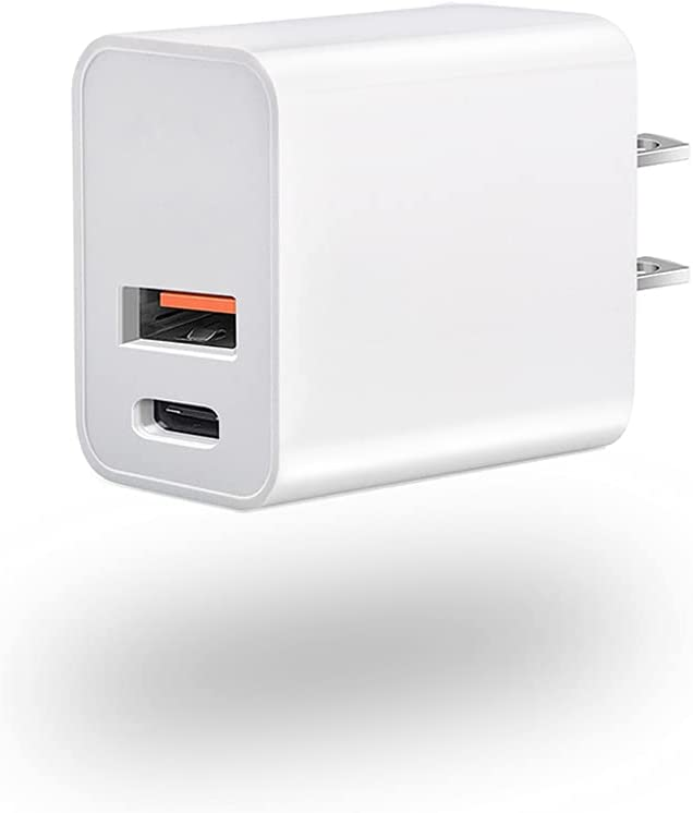 iPhone 12 Charger Block,Upgraded 20W Dual Port USB C Fast Wall Charger,Durable USB C Charger PD Fast Charger,Type C Wall Charger Adapter Compatible for iPhone 12 Pro Max Charger Mini SE 11 Pro Plus