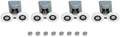 Rodillos para puerta de ducha – Repuesto de rodamientos para puerta corredera de vidrio (rueda doble): Amazon.es: Bricolaje y herramientas