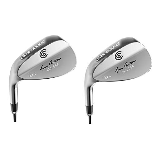 Cleveland Golf 588 52-Degree Traction Tour Action Wedge, Left-Handed (2 Pack)
