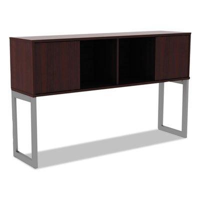Alera ALELSHH60MY Open Office Desk Series Hutch, 60w x 15d x 36 1/2h, Mahogany by Alera (Image #1)