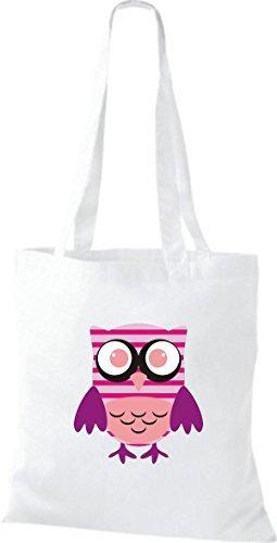 Shirtinstyle - Cotton Fabric Bag For White Women - White