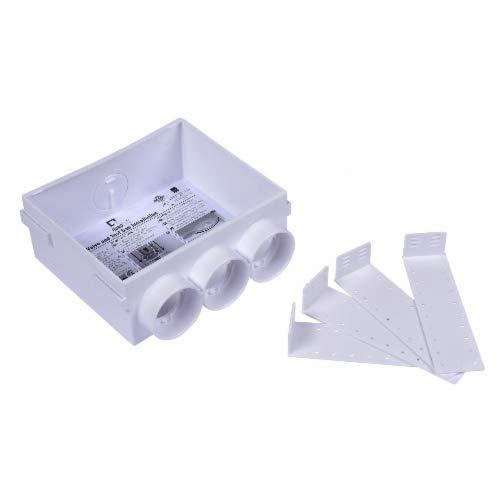 Oatey 38550 Quadtro Washing Machine Outlet Box, Plain 2