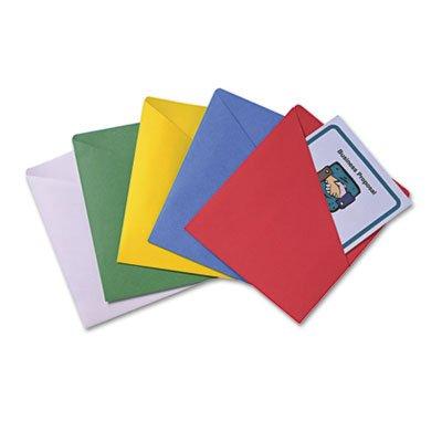 Slash-View Pocket Organizers, Letter, Assorted Colors, 25/Pack, Sold as 25 (Slash View Pocket Organizers)