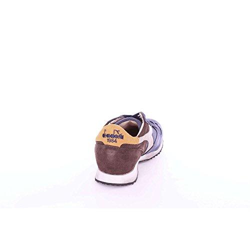 Diadora Heritage - Turnschuhe MI Basket Used für Mann und Frau Blau und braun