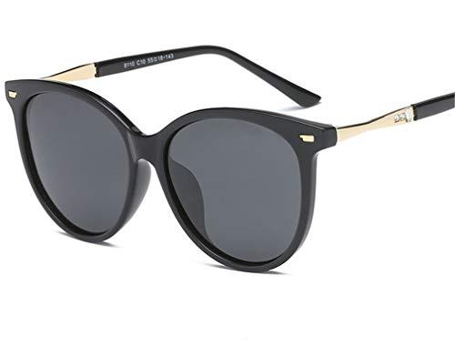 XIYANG Black Señoras Gafas Sunglasses Round de Frame Nail Bright Glasses Sol New Polarized Rice Retro Fashion Blue rr4wzqa