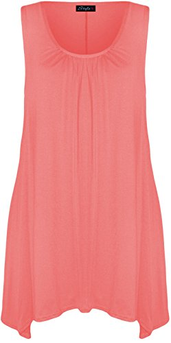 My Fashion Store - Camiseta sin mangas - para mujer rosa claro