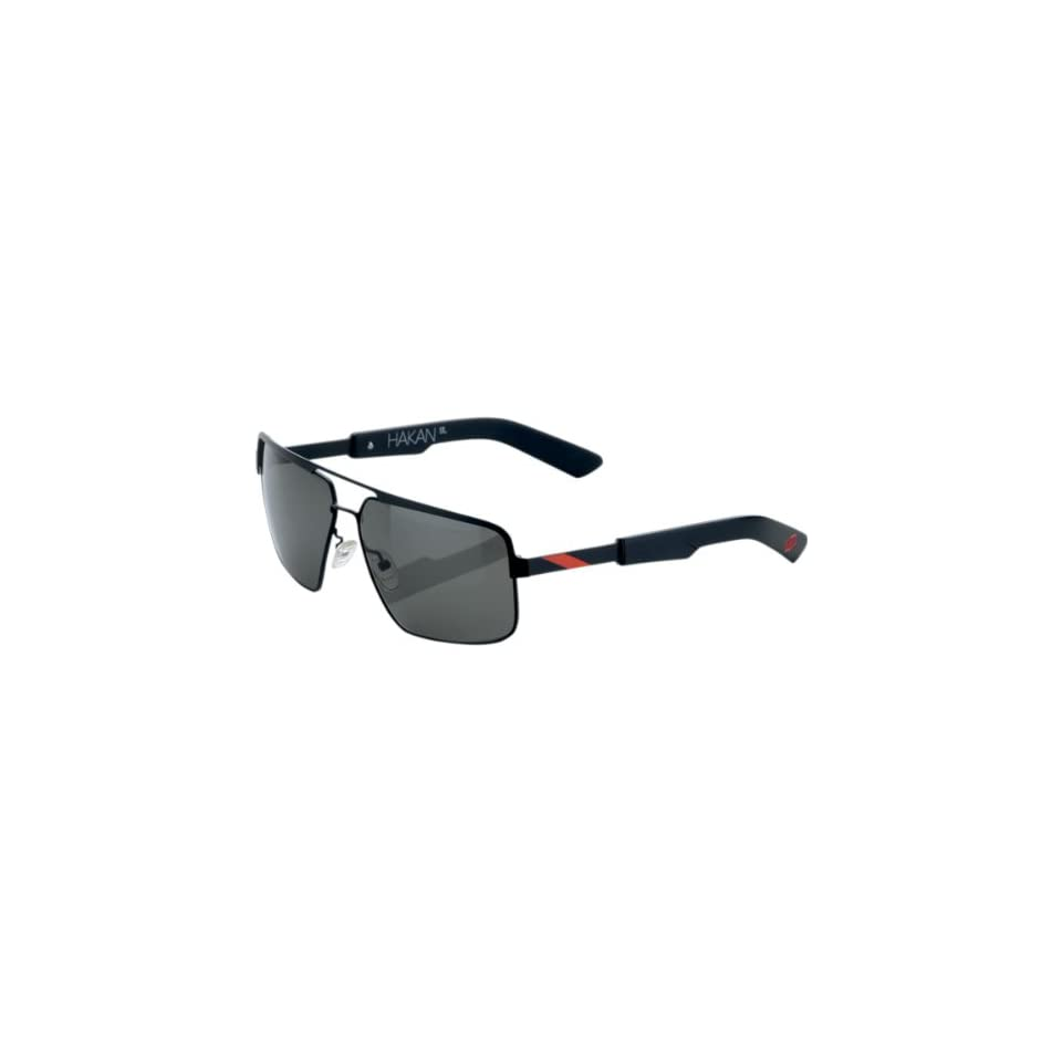 100% Hakan Sunglasses , Primary Color Black, Distinct Name Matte Black/Red, Gender Mens/Unisex 60002 013 01