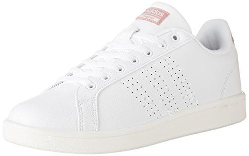 adidas Frauen Cloudfoam Advantage Clean Fashion Sneakers Wht / Pnk
