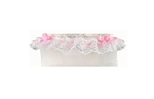 db6e4fb23ed9 Sissy Dames Unisex Cute Lace Dress up Lingerie Panties - White with Pink Bow