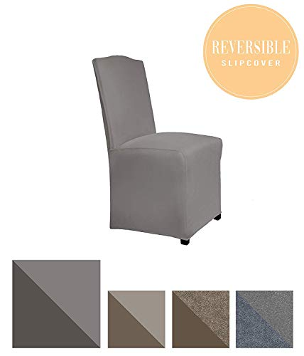 Perfect Fit Serta | Slip-Resistant Form Fitting Furniture Slipcover for Dining Chair, Long Skirt, Reversible Stretch Suede ()