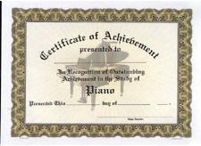 Amazon Com Music Treasures Piano Achievement Certificate
