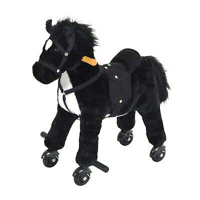 Canvoi Kids Walking Horse Ride on Pony Rocking Toy Neigh Sound W/ Wheels& Footrest from Canvoi