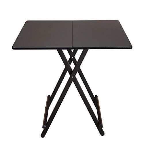 A-Fort Table Al Aire Libre, portatil, portatil, Mesa pequena, Puesto, Mesa, Plaza, Dormitorio, Mesa pequena, 80, Cuadrado, Negro (Marco Negro) (Color : Beige)