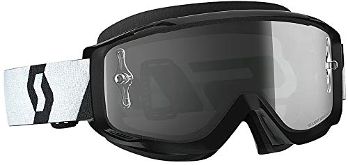 Scott Split OTG Adult Off-Road Motorcycle Goggles - Black/White / Grey/One ()