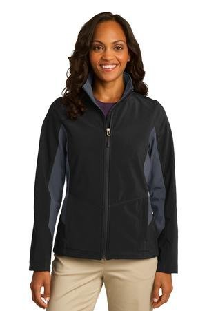 Port Authority Women's Colorblock Soft Shell Jacket_Black...