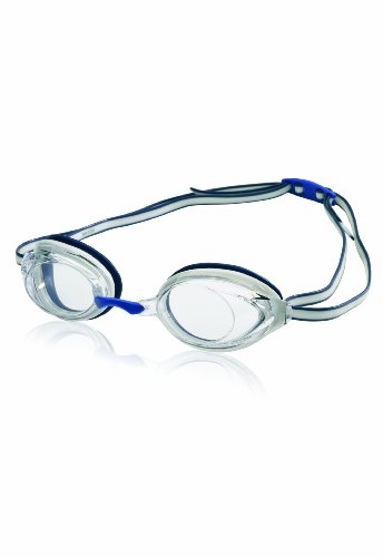Speedo Vanquisher 2.0 Swim Goggle, White/Navy, One Size (Speedo Goggle Nose Piece)